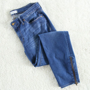 Madewell The Skinny Skinny Ankle Zip Jeans